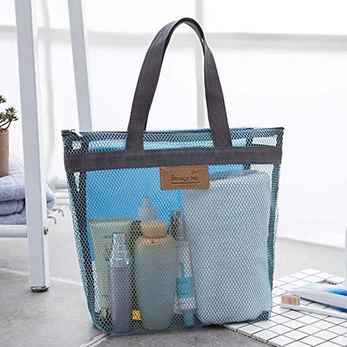 ZHOUJIE Badeschuhe Aufbewahrung Strandtasche Damen Mesh Einkaufstasche Badeanzug Handtasche Badetasche 1St-Pfund