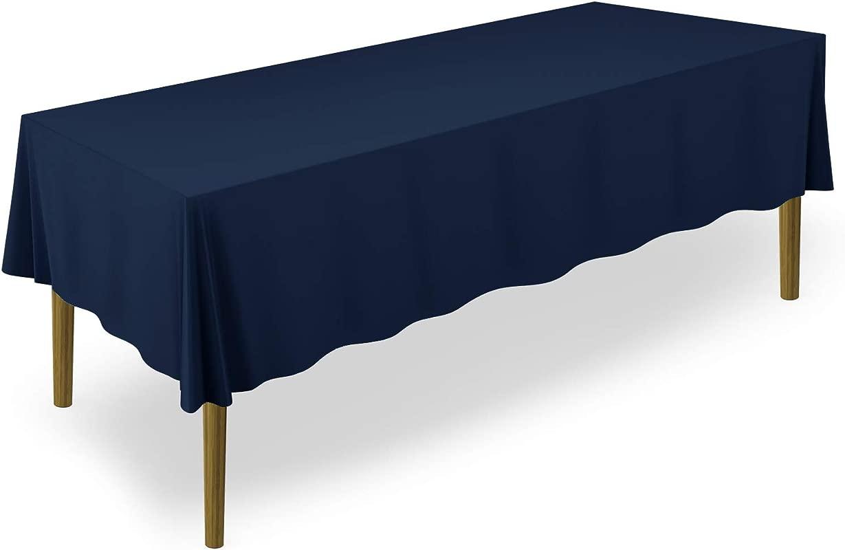 Lann S Linens 60 X 126 Premium Tablecloth For Wedding Banquet Restaurant Rectangular Polyester Fabric Table Cloth Navy Blue