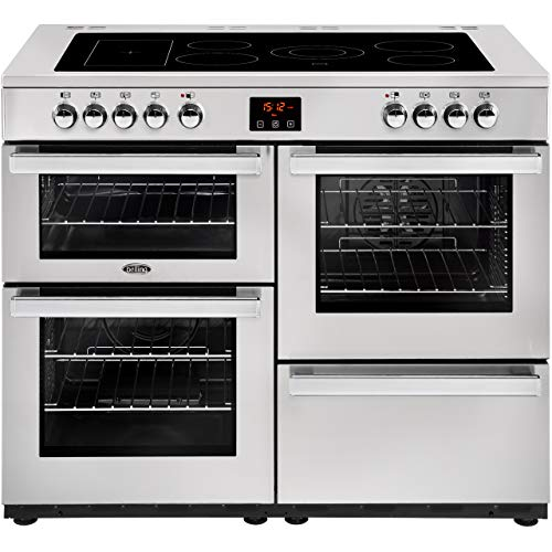 Belling Cookcentre 110E Professional 110cm Electric Range Cooker with Ceramic Hob - Stainless Steel