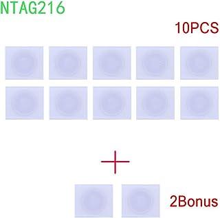   12NTAG216  NFC Sticker/Tag/selbstklebend Label RFID IC mit 924Bytes Schnell Lesen/Schreiben/Lock kompatibel mit allen NFC fähigen Smartphones und Geräten eingesetzt Schnell (10PIECES + 2BONUS)