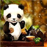 5D DIY Diamante Bordado Animales Full Diamond Cartoon Panda Set Rhinestone Mosaico Punto de Cruz Regalo 40 * 40 cm