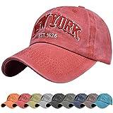 Voqeen Gorra de Beisbol Sombrero de Gorra Ajustable con Bordado New York Gorra de Vintage Algodón de Verano al Aire...