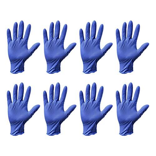 Healifty 20 Stück Einweghandschuhe Weiche Industriehandschuhe Geschirrspülmittel Reinigungshandschuhe Pulverfrei zum Kochen in Der Küche Lebensmittelhandhabung S (Blau)