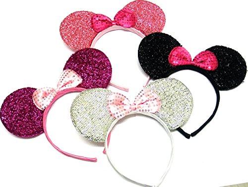 La Peach moda Gorgeous Traje de Juego de cuatro almohadillas de ratón Alice banda para la cabeza bandas Fancy Dress para despedida Alice banda