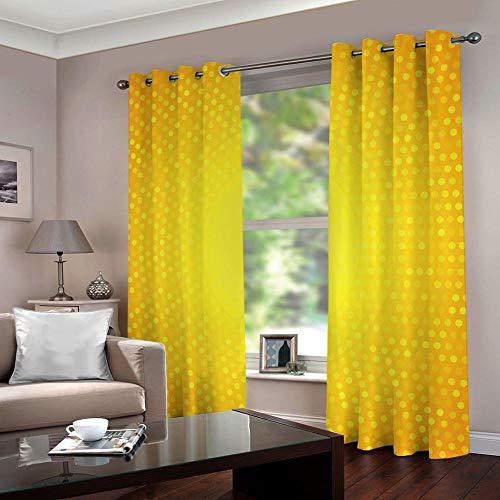 Cortinas amarillas para salón 117x229 cm (juego de 2)