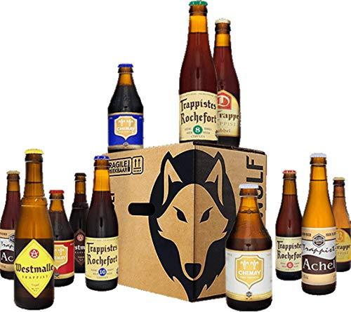 Beerwulf Trappisten Bierbox | mit 12 verschiedenen Bier | Alkoholgehalt: 6,3-11,3%