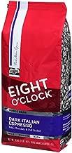 Eight O'Clock Coffee Dark Italian Espresso, Dark Roast, Whole Bean Coffee, 32 Ounce (Pack of 1), 100% Arabica, Kosher Certified