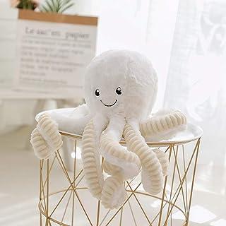 lapeche Plush Cute Octopus Dolls Soft Toy Stuffed Marine Animal for Boys Girls Birthday Presents (White, 16 inch)