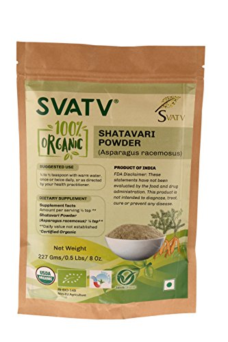 SVATV Shatavari Pulver II Spargel Racemosus II 1/2 LB, 08 oz, 227 g II Hergestellt in Indien