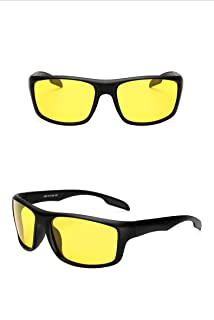 GR Mens Outdoor Riding Fishing Windproof Glasses Sports Mens Polarized UV400 Sunglasses Windshield Sunglasses Night Version for Night Driving (Color : Yellow)