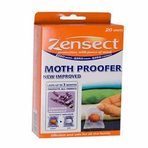 Zensect Paquet de 20 boules anti-mites parfum lavande