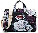 Canvaslove Red and White Rose Waterproof Laptop Shoulder Messenger Case Sleeve Bag for MacBook Retina 12 inch,MacBook Air Pro 13 inch,iPad Pro 12.9 inch and 11 inch 12.5 inch 13.3 inch Laptop