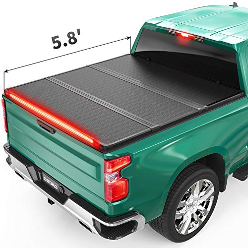 oEdRo Hard Folding Tonneau Cover with Built-in Light Strip