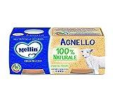 Mellin Omogeneizzato Agnello mit Fleisch und Reismehl homogenisiert Lamm Babynahrung ab 4 Monaten 2x80g