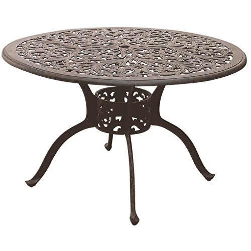 """Darlee Series 80 48"""" Round Patio Dining Table in Antique Bronze"""