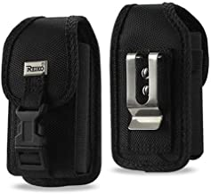 Vertical Locking Heavy Duty Nylon Case with Velcro Closure with Belt Clip and Belt Loop for Straight Talk ZTE Z233VL or Z232TL