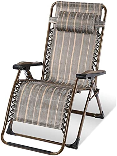 Limited Edition Extra Dicker Stuhl Ruhender Stuhl Für Die MittagSpaßse Balkon Bequemes Nickerchen Am Strand Freizeitstuhl (Farbe  Goldstreifen Tragf gkeit  150 Kg)
