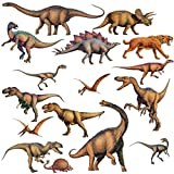 Lunarland DINOSAURS 16 BiG Wall STICKERS Boys Room Decor Decals Bedroom Decoration T-REX