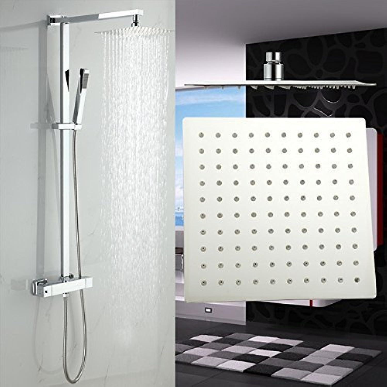 Luxus Duscharmatur mit Thermostat Duschkopf 20x20cm