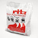 Ritz Bio Anzünder 325 Stück | Kaminanzünder | Holzanzünder | Grillanzünder | Brennholzanzünder | Holzkohle | Briketts | Kaminholz
