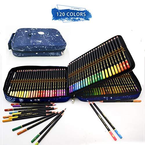ZZONEART 120 Buntstifte Set mit Premium Zipper federtasche,Professionelles farbstift Zeichnen-Set für Erwachsene und Kinder,perfekt für Malbücher und schulbedarf künstlerbedarf