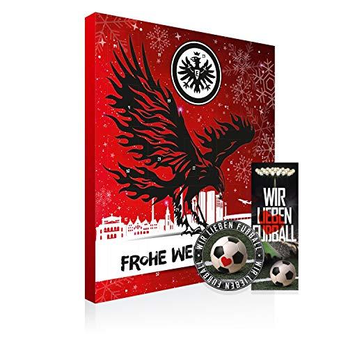 Eintracht Frankfurt Premium Adventskalender gefüllt inkl. Poster SGE + gratis Lesezeichen & Aufkleber Wir lieben Fussball
