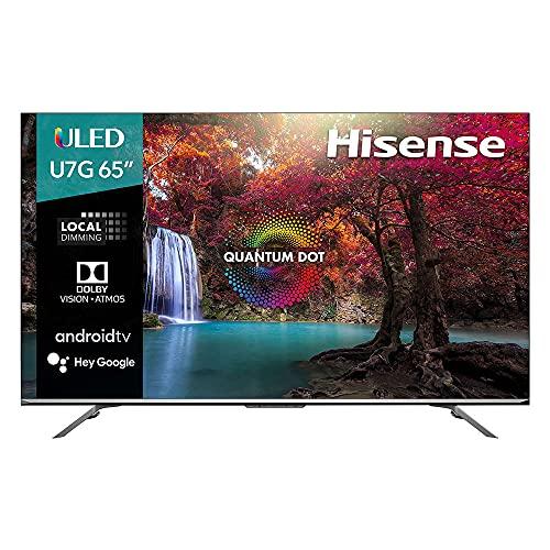 Hisense ULED U7 Premium TV 65' Pulgadas, 4K UHD, Dolby Vision, Android TV con Netflix, Youtube, Disney+ IMAX Enhanced, Google Asistant y FreeSync (65U7G 2021)