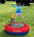 Inflatable Trampoline Kids Backyard Toys Approx. 21' H x 75' diam. Easily Inflates Deflates Heavy-Duty Construction
