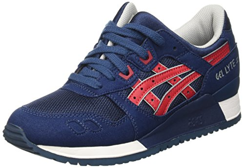 ASICS Gel-Lyte III - Scarpe da Ginnastica Basse Unisex – Adulto, Blu (Indian Ink/Tango Red 5025), 37 EU
