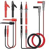 Cavi di misura, Tacklife METL04 Multimetro elettronico a 8 pezzi Cavi di prova Kit di accessori con prolunga di prova, pinze a coccodrillo, sonda di prova e stantuffo Mini-ganci per multimetri