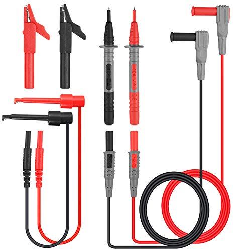 Cavi di misura, Tacklife METL04 Multimetro elettronico a 8 pezzi Cavi di prova Kit di accessori con prolunga di prova, pinze a coccodrillo, sonda di p