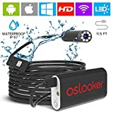 Oslooker Endoscope Inspection Camera Wireless Borescope 3.5m HD 2MP - USB Waterproof Lizard Cam for iOS Android - WiFi Phone Flexible Snake Camera with Light