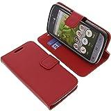 Tasche für Doro 8031 Book Style rot Kreditkarte Schutz Hülle Buch