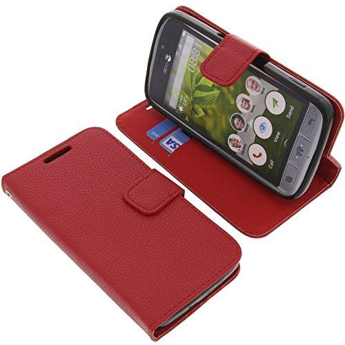 foto-kontor Tasche für Doro 8031 Book Style rot Kreditkarte Schutz Hülle Buch
