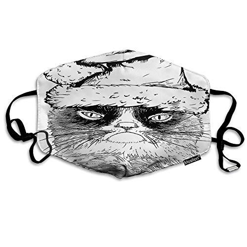 F Schedel Masker Halloween Voodoo Skeleton Zwart Bloed Horror Schedels Mond Masker Unisex Maskers Herbruikbaar Wasbaar Polyester Anti-Stof Masker voor Mannen Vrouwen Buiten 7 * 4.3 Inch Masker-a1162