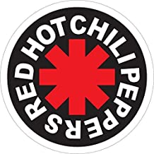 Red Hot Chili Peppers Sticker for Cars   5 - Sizes Window Decal Poster Banner   Red Hot Chili Peppers Patch Velcro
