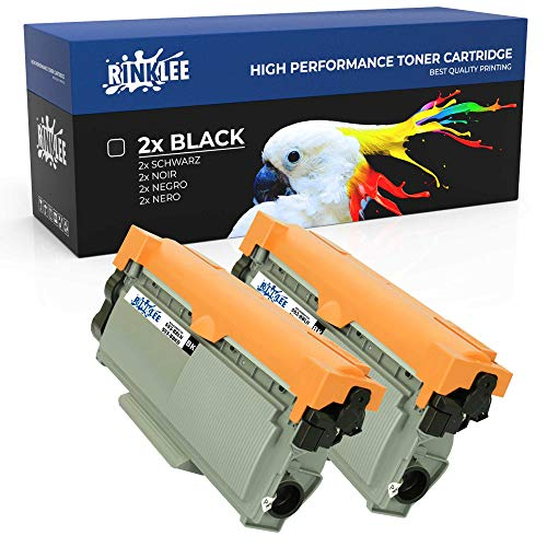 RINKLEE 593-BBLH 593-BBKD Toner Cartridge Compatible with Dell E310dw E314dw E515dn E515dw | High Yield 2600 Pages | Black, 2-Pack