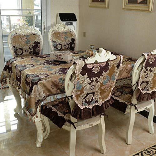 Yruog_tablecloth Cubierta de Mantel Mesa de Comedor de Mantel de Encaje de rectangulo de Color solido r para Cocina decoracion para el hogar90X90CM Borde de Encaje