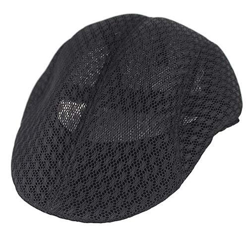 JK Fashon Gorra de Boina de Verano para Hombres para Rejilla de ventilación Unisex Gorras Masculinas Casual Cómodo Belleza Sombrero Adulto sólido Cap-8, China, Talla única