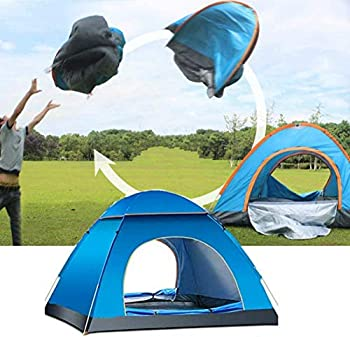BUZZYFUZZY Instant Pop Up Tent 1-2/3-4 Person Camping Tent Instant Set Up Outdoor Hiking Backpacking Tent Shelter  Blue Small