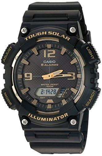 Casio Reloj Analógico para Hombres de Cuarzo con Correa en Resina AQ-S810W-1A3VCF