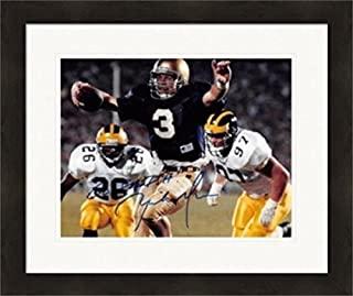 Autograph Warehouse 270476 Rick Mirer Autographed 8 x 10 in. Photo - Notre Dame Fighting Irish 1982 Sugar Bowl Champion Image - No. SC2 Matted & Framed