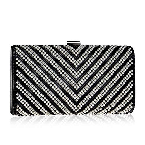 LEOO Banketttasche Bankettkleid Dinner Bag Clutch Bag (Color : Black)