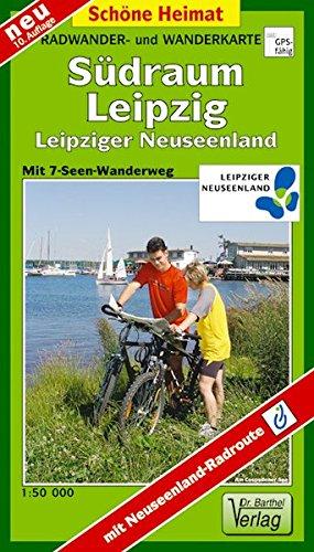 Doktor Barthel Wander- und Radwanderkarten, Radwanderkarte Südraum Leipzig: Leipziger Neuseenland mit Neuseenland- Radroute (Radtouren-Spezial)