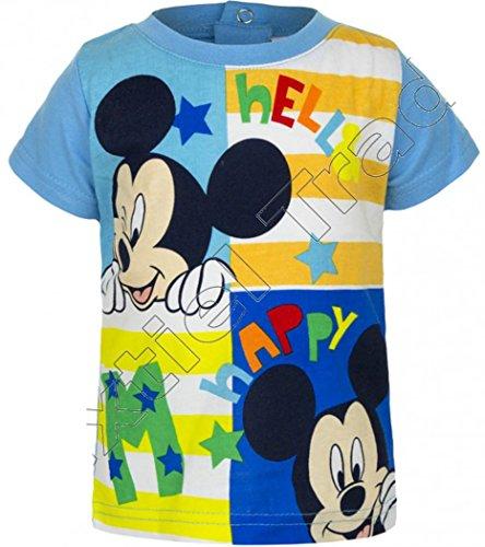 6 mois Tee shirt manches courtes b/éb/é gar/çon Mickey Vert de 3 /à 23mois