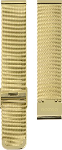 Oozoo Milanaiseband Uhrenband Armband Metallband Edelstahl Goldfarben 14 MM - OA-501-14