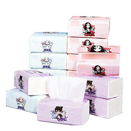 Aiyu 12 doosjes van papier, 3 lagen toiletpapier, parfumvrij, servet, tissuepapier, geschikt voor familie, noodgevallen of