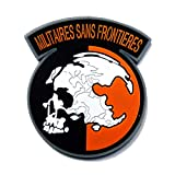 Militaires Sans Frontieres Morale Tactical Patch Embroidered Applique Attachment Fastener Hook & Loop on Tactical Hat Bags Jackets and Gear