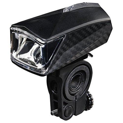Hama LED Fahrradlicht (Fahrradlampe StVZO zugelassen, Fahrradbeleuchtung inkl. Batterie und Halterung, abnehmbares Frontlicht mit 2 Licht Modi) schwarz