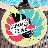 TOORY mural Toalla de Playa Redonda de Microfibra de 150 cm de diámetro Toalla de Moda Toallas de Playa Estera de Viaje Toalla de baño Absorbente y de Secado rápido-10_150cm